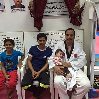 BTS my daughter with (sensei)Captain.Saeed Jasim Ali a headmaster of Bahrain trainer committee of self-defense.