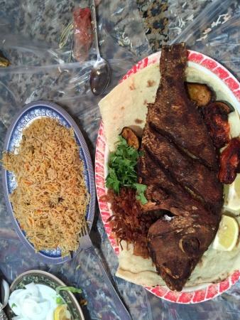 سمك الشعري و مندي, لذييذ و فريش @ Al Najaf Sea Restaurant - Bahrain