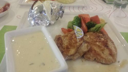 grilled chicken with mashroom sauce @ Lemon Shisha Bistro - Bahrain