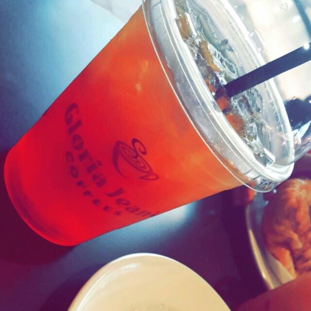The new orang iced tea is really good  @ Gloria Jean's Coffees - Bahrain