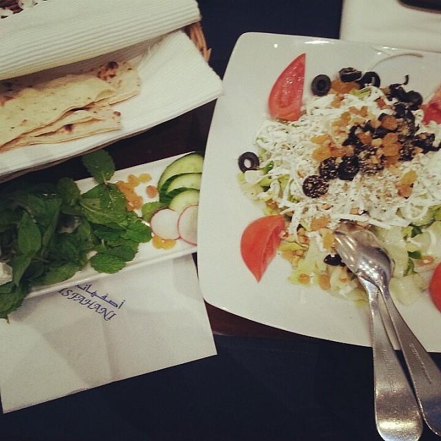 starter with Tabriz Salad