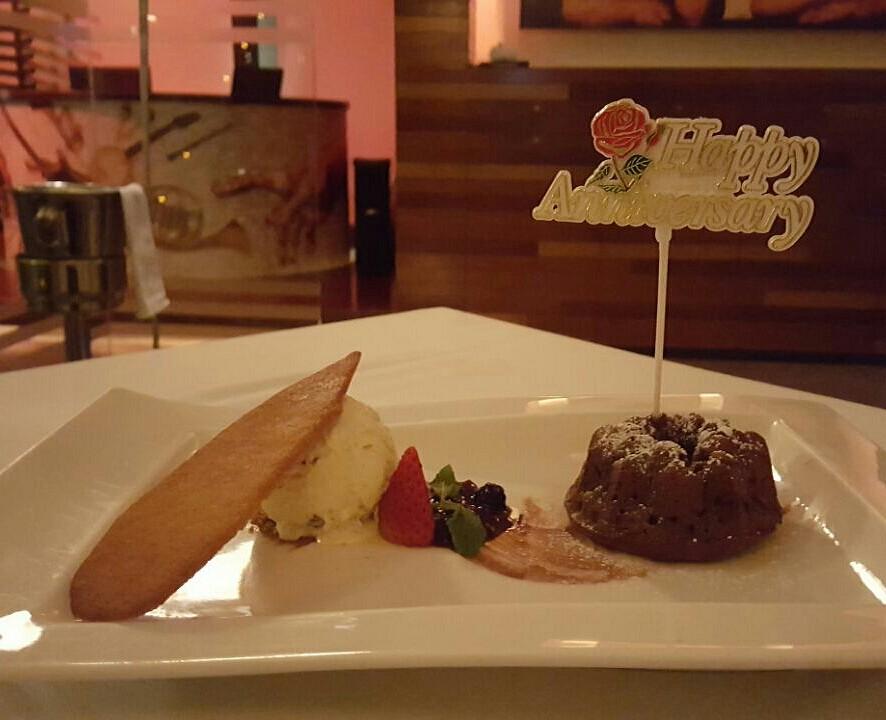 #dessert #sweet #lava #cake @ Pizzeria Cafe Italia - Bahrain