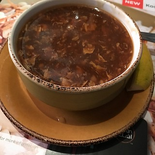 Every meal I have in Al Abraaj has to start with their famous hot and sour shrimp soup. It's my all time favorite soup.