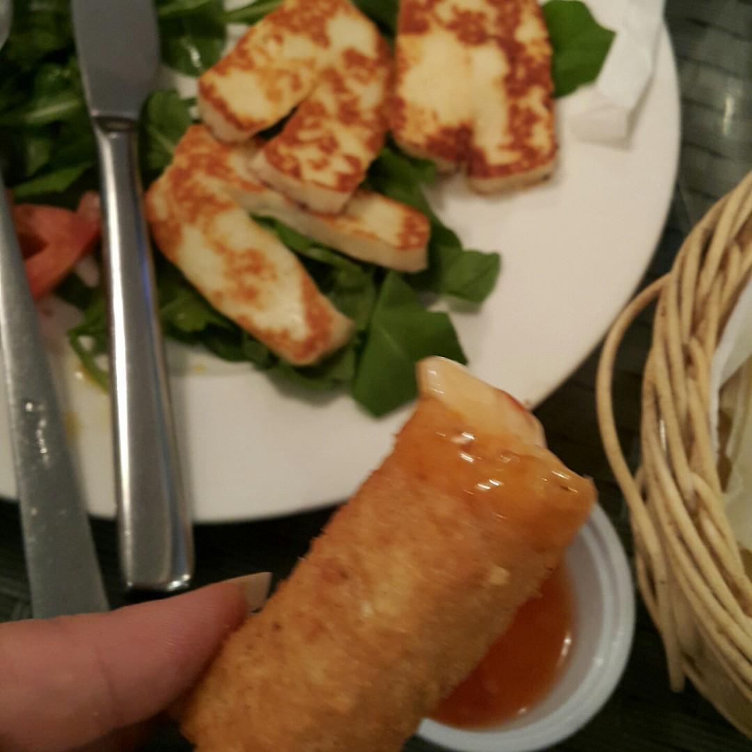 halloumi & mozzarella stick 😈 @ Med Cafe - Bahrain