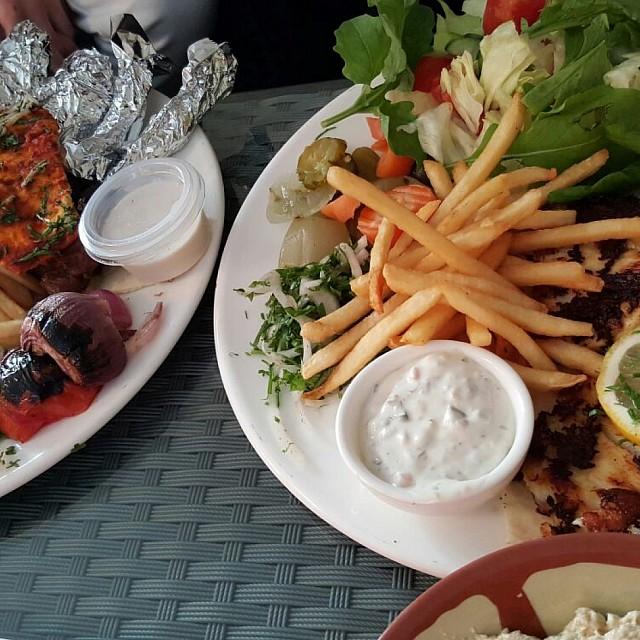 grilled fish & lamp chob
