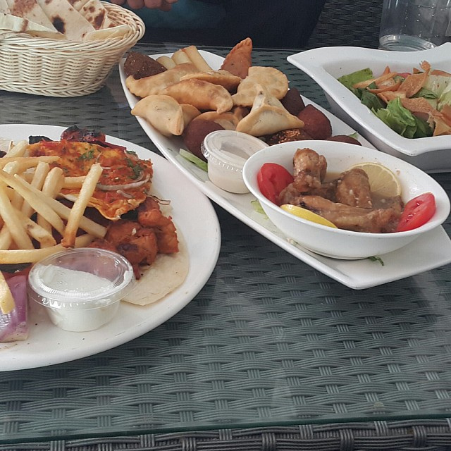 Shish tawooq & hot mix mazza