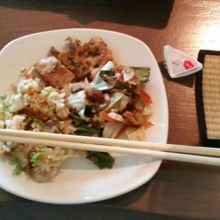 Chicken and rice - yum!