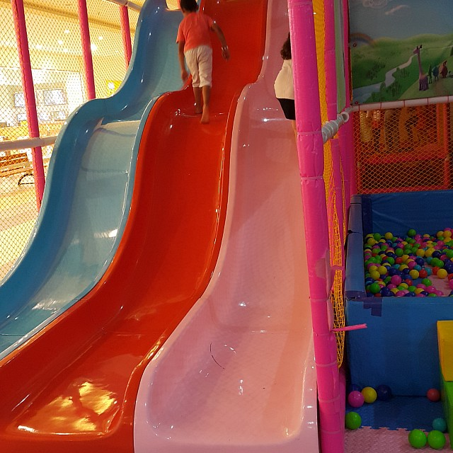 I think when i was a kid was playing on slides in a wrong direction 😒