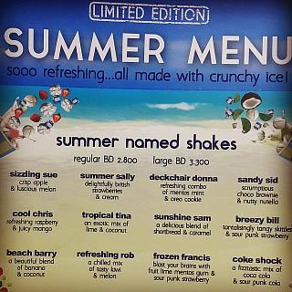 Summer menu 🌞