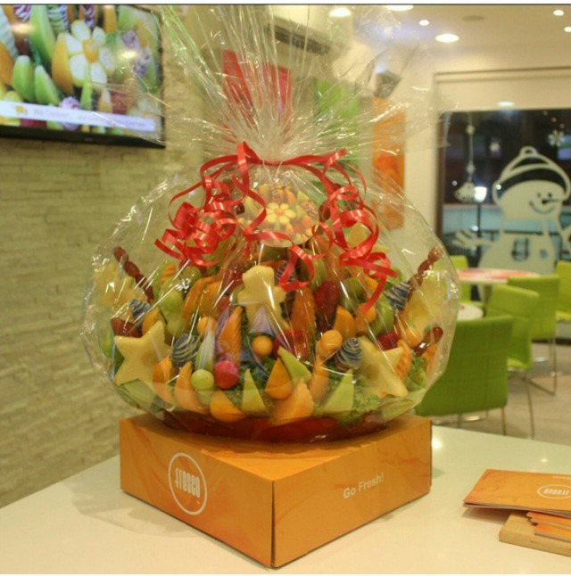 Special Fruit bouquets with good prices.