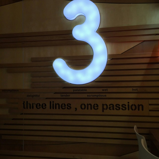 Three lines,  one passion? ?!