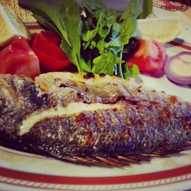 Turkish fish from Mediterranean sea, so delicious...