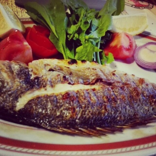 Turkish fish from Mediterranean sea, so delicious...