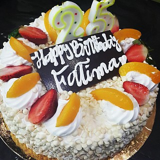 #Happy_birthday sis 😙🍰  Vanilla forest cake