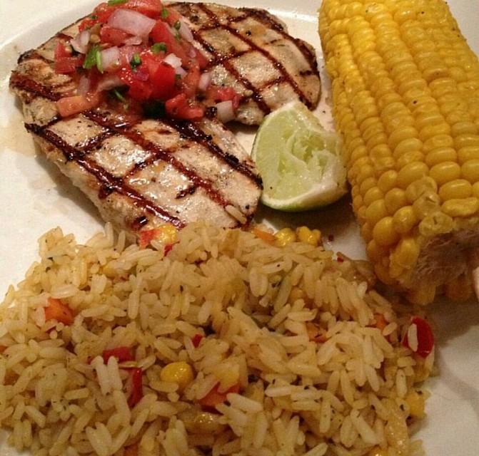 #grilled #chicken #corn #friedrice