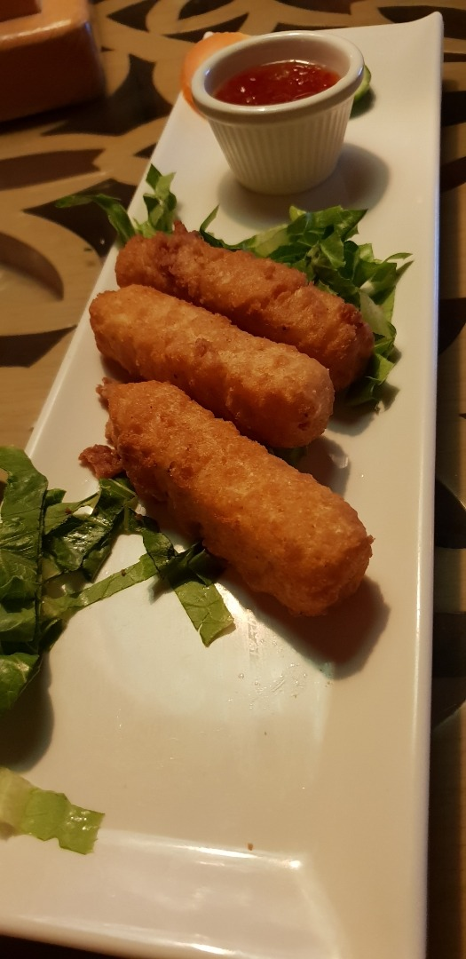 ordered cheese fingers... came out not as hot as expected @ Arizona Cafe - Bahrain