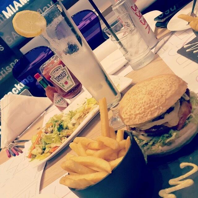 Spicy lava burger 😈 @ Burger Lounge - Bahrain