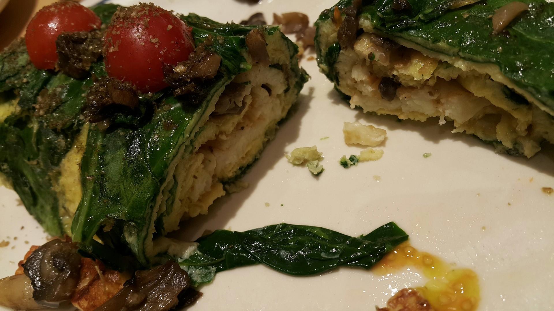 Spinach egg with halloumi cheese @ IHOP - Bahrain