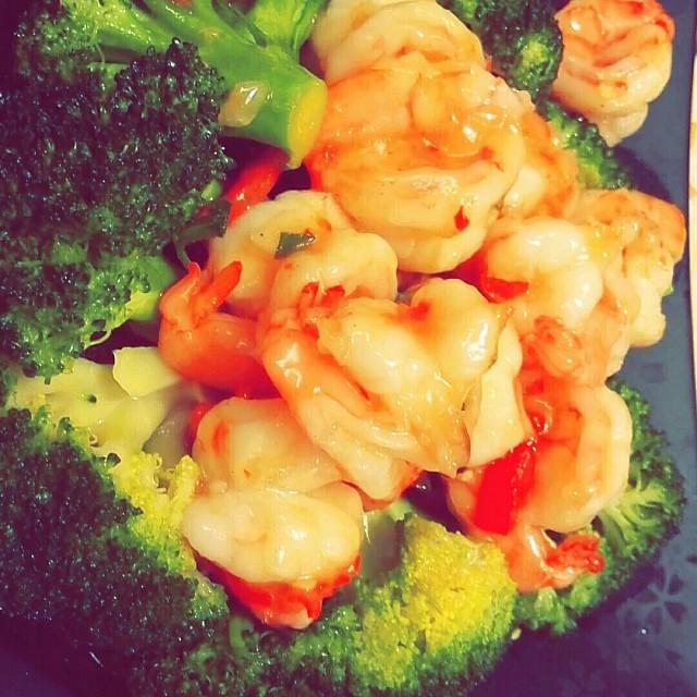 Hong kong style shrimp, tasty