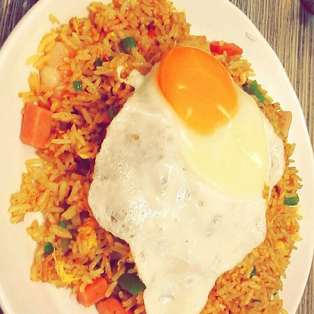 Fried rice with egg delicious