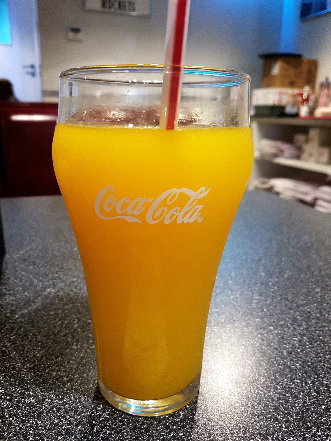Fresh orange juice @ Johnny Rockets - Bahrain