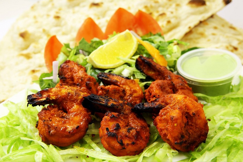 Mouth watering tandoori prawns