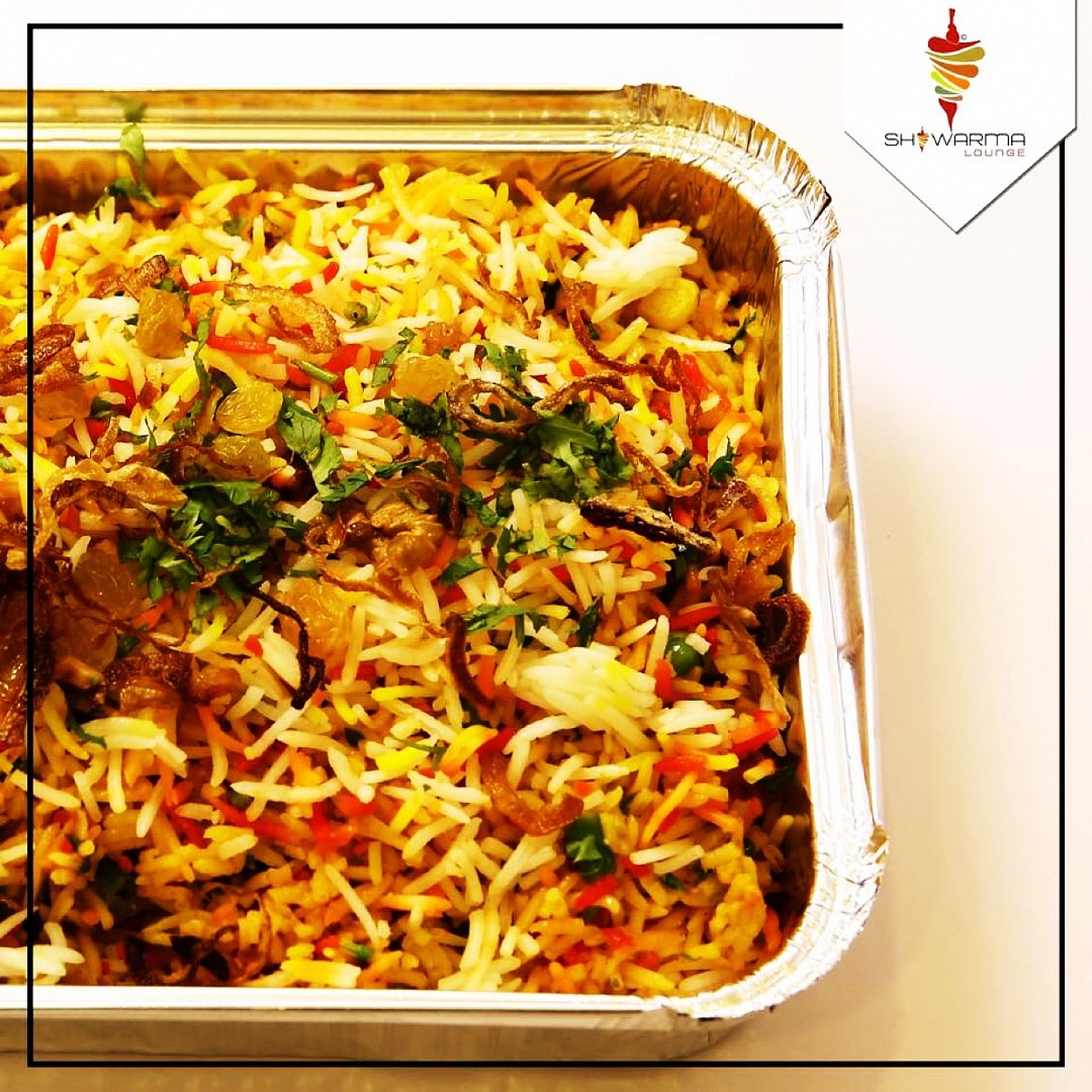 Try our Biryani #veg #non veg.. won't stop licking your fingers... @ Shawarma Lounge - Bahrain