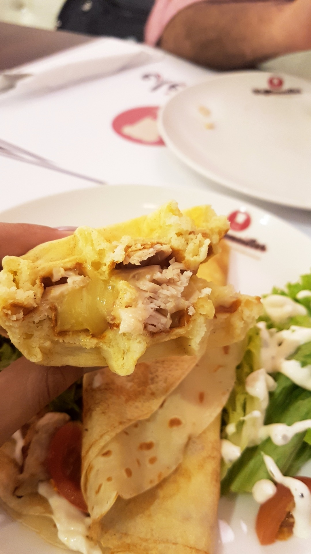 Turkey cheese waffle @ Wafflemeister - Bahrain