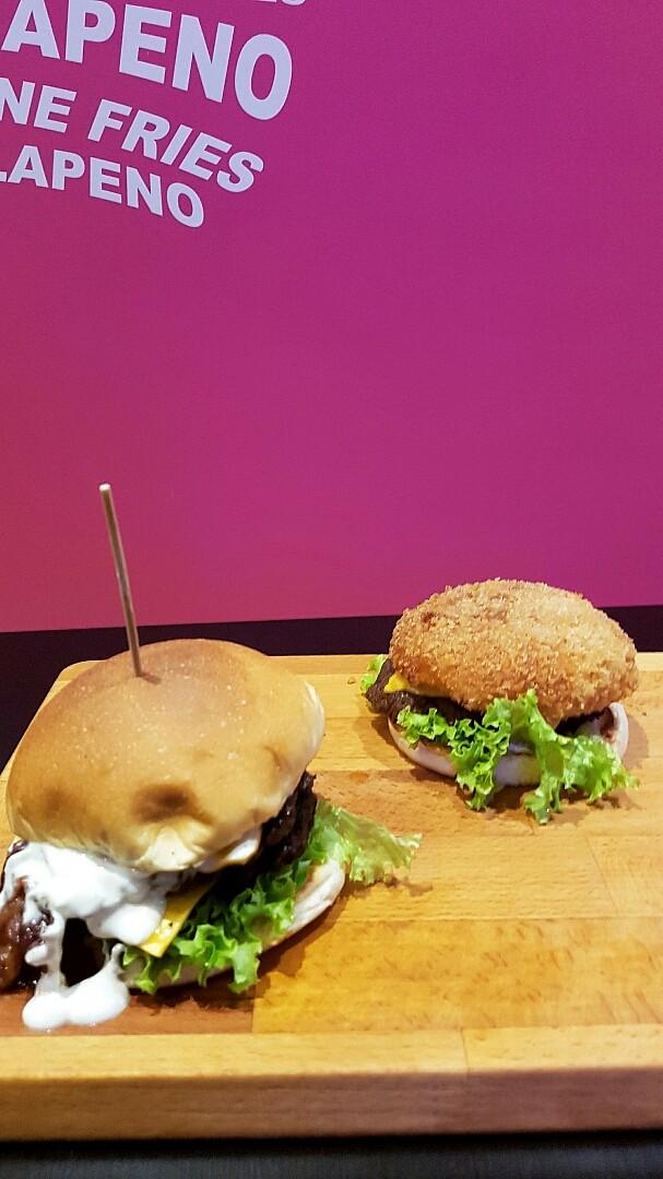 Big mouth burger and crunchy head burger #burger #fries #burgerzone @ Burger Zone - Bahrain