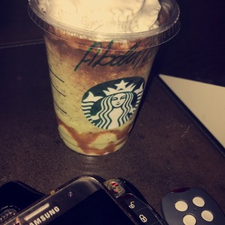 لذييييييييييذ  #starbucks #doublechocolategreentea