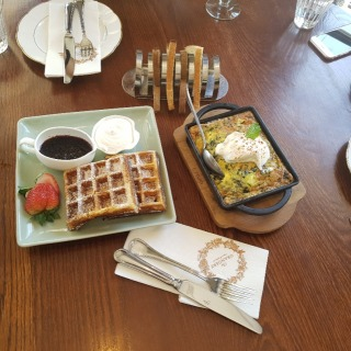 Yum breakfast at Orangery!