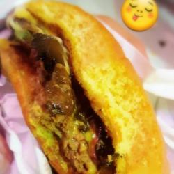 Wild mushroom burger