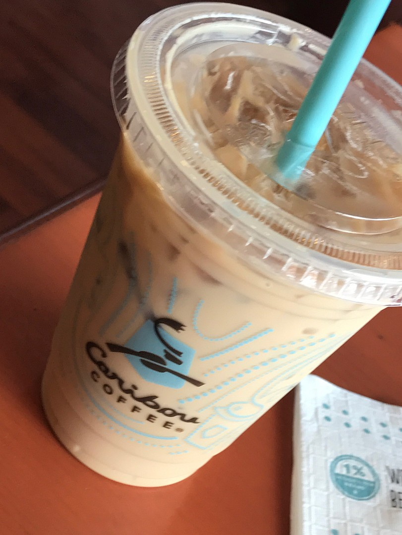 I am not much of a coffee lover personally except for the occasional Turkish coffee but in this lovely cold weather, I love to enjoy a cold sugarless Iced latte here because to me they have the best latte. @ Caribou Coffee - Bahrain