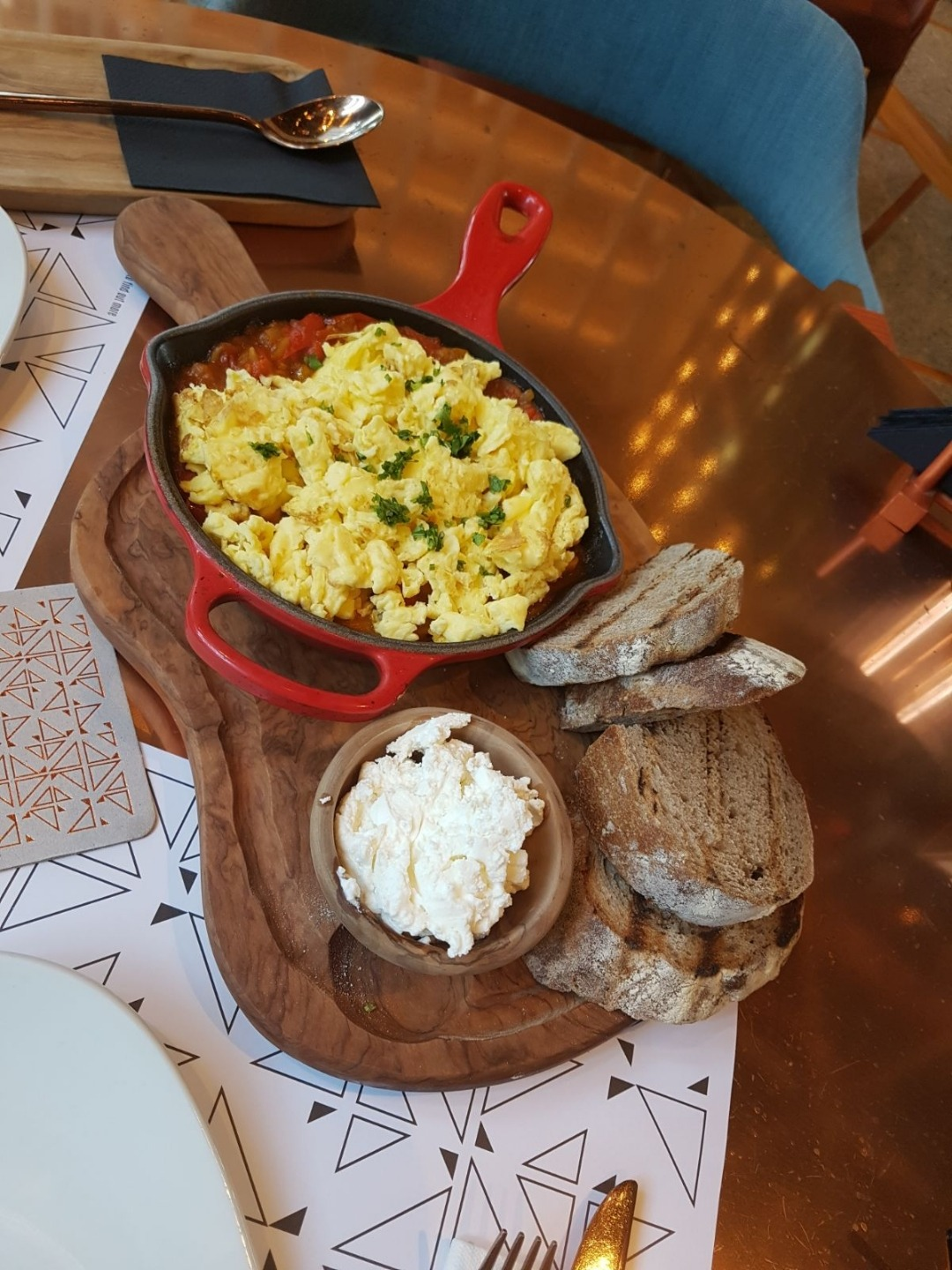 Scrambled eggs - have had better @ Nomad Urban Eatery - Bahrain