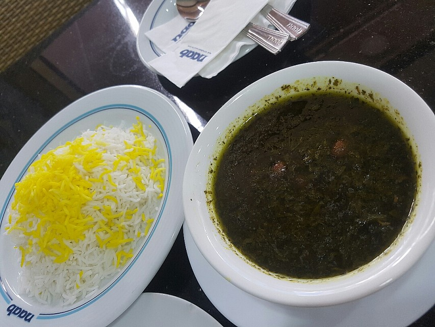 Ghorme sabzi. Was ok but not so nice . Just 2 piece of meet
