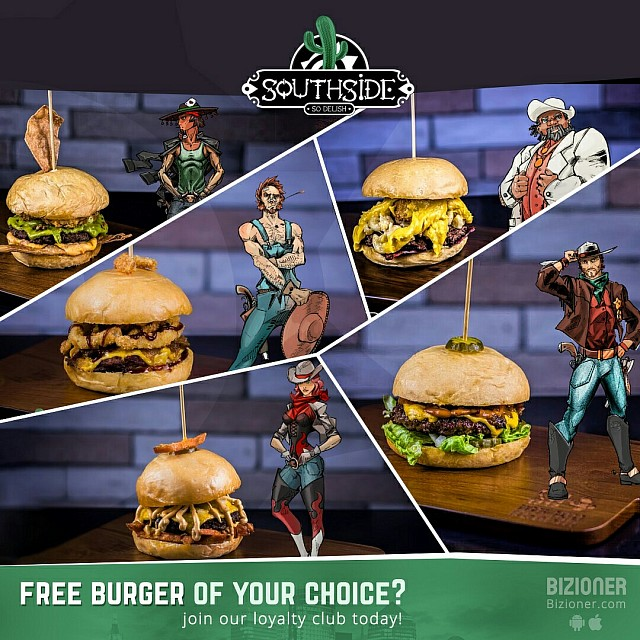 Collect points and get a free burger of your choice 😋