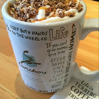 Turtle toffee latte #coffee #shop