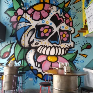 Wall art in Gringo.