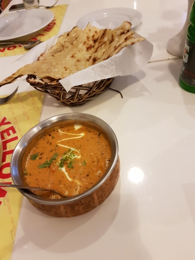 butter chicken and butter naan