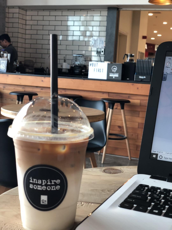 Spanish latte was great @ C Plus Cafe - Bahrain