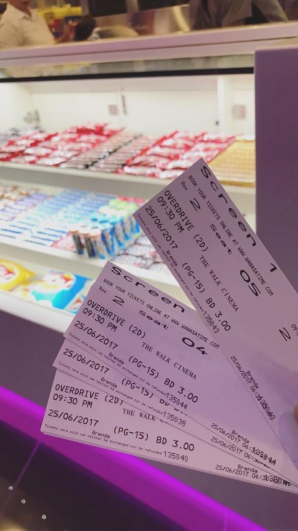 #Bahrain #bh  #like #cinema #ticket #thewalk @ The Walk Cinema - Bahrain
