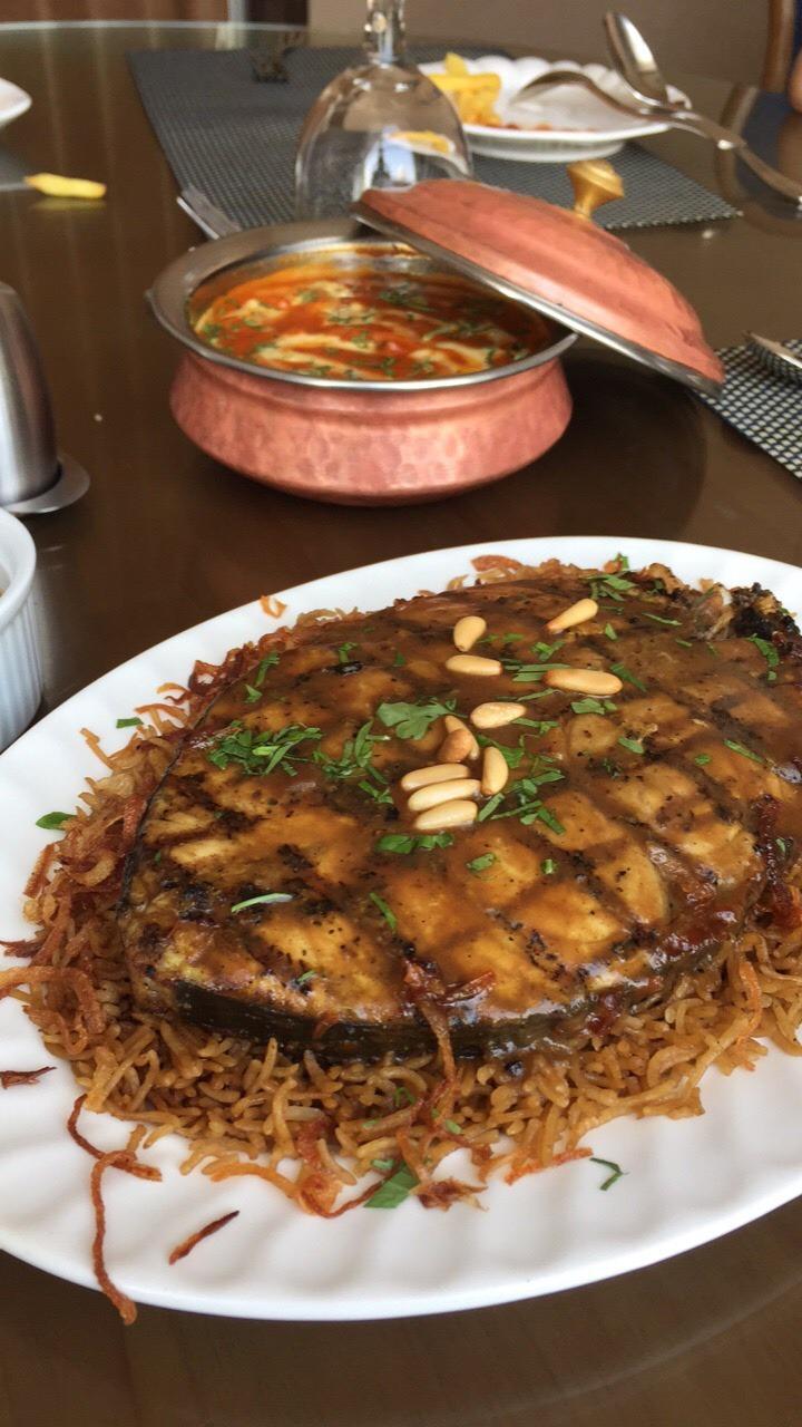#مطعم_كومو صيادية سمك كنعد #روبيان_مسالا @ Como Restaurant - Saudi Arabia