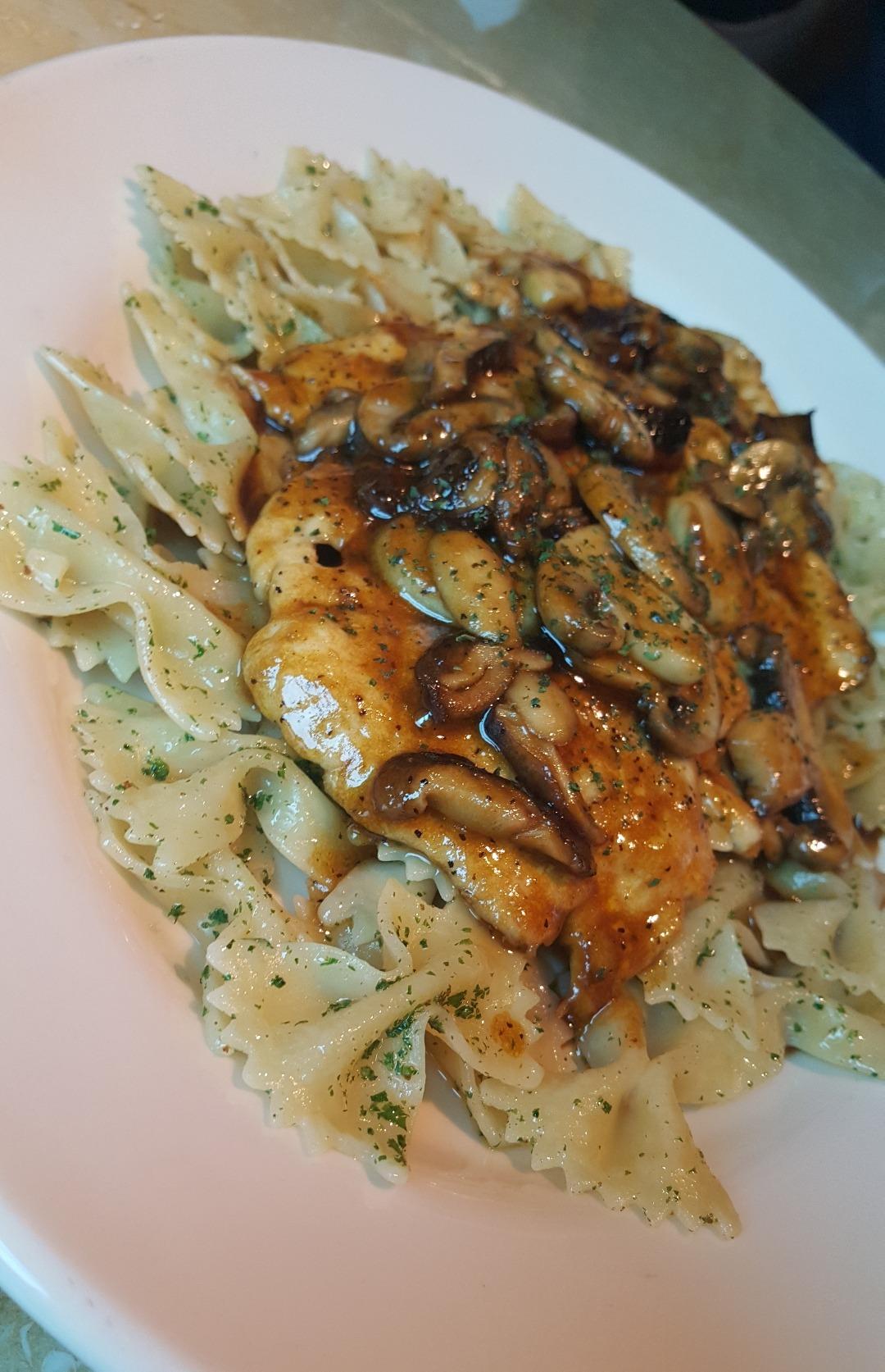 chicken mushroom pasta @ The Cheesecake Factory - Bahrain