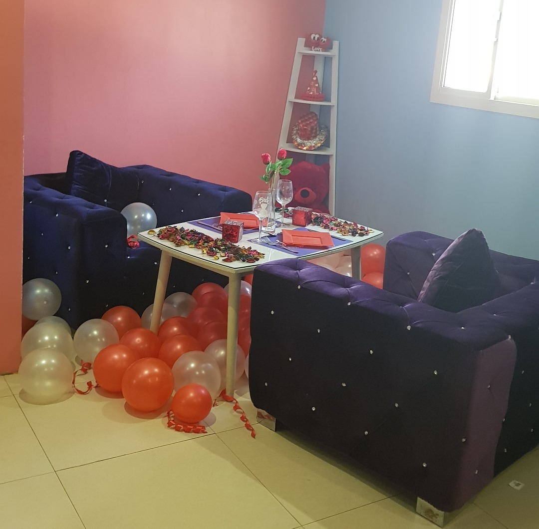 Birthday Party Room for couples ❤ @ LaShish Restaurant & Cafe - Bahrain