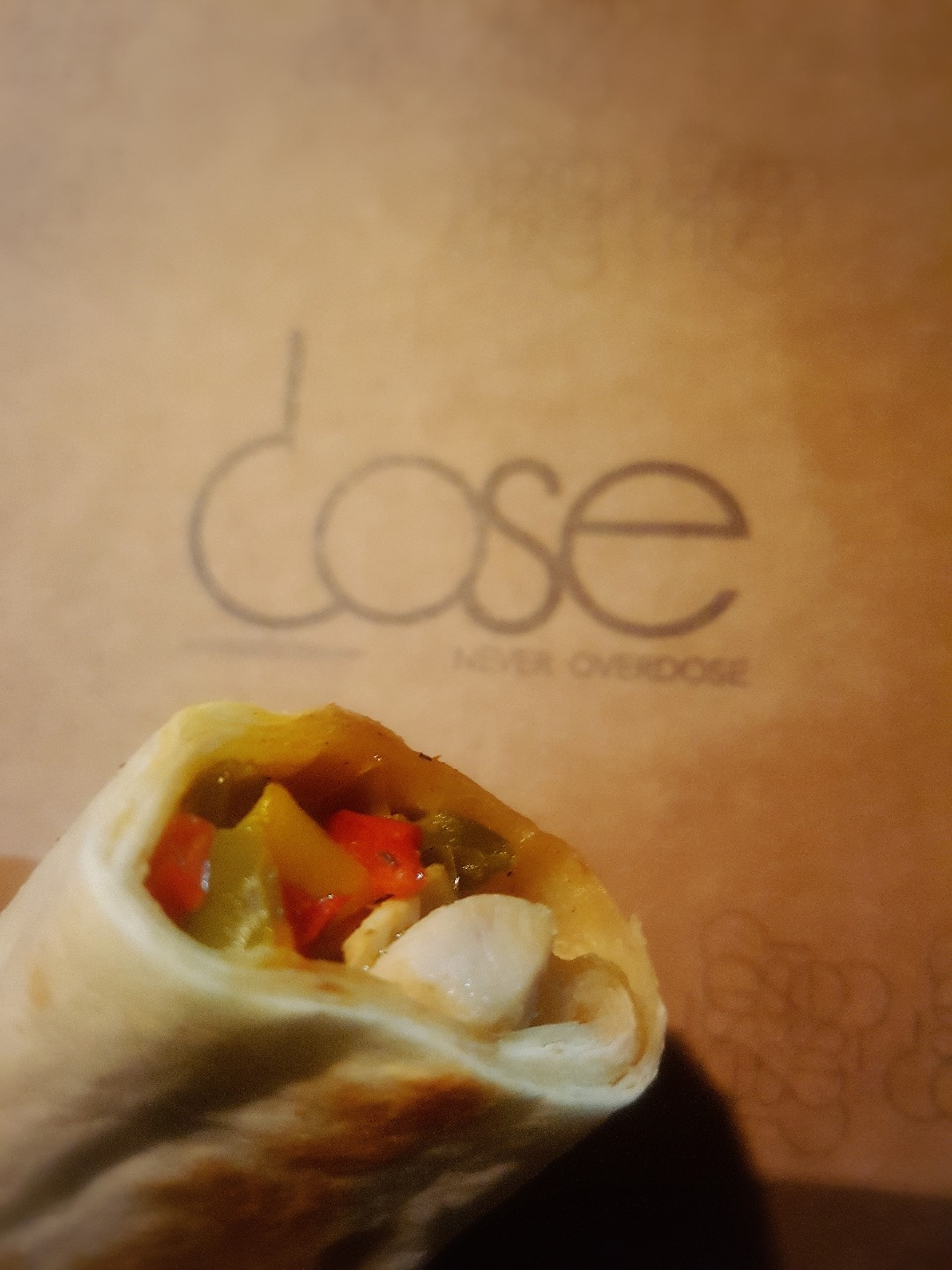 Grilled chicken fajita @ Dose cafe - Bahrain