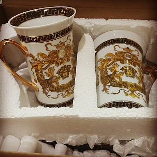 My new versace cups just arrived by aramex😇