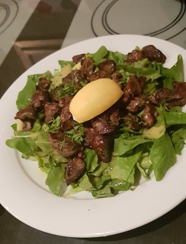 chicken liver salad 👌 @ Cappuccino Cafe - Bahrain