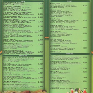 Menu for Healthy Food Time