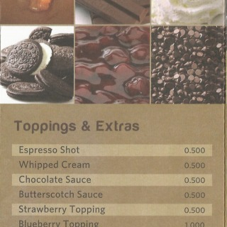 Menu for Coffee World