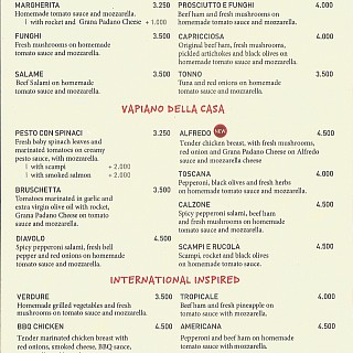 Menu for Vapiano